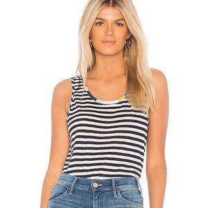 Splendid x Margherita Color Block Stripe Linen Top